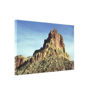 Cumbre de la montaña de la roca impresion en lona
