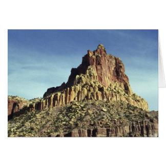 Cumbre de la montaña de la roca tarjeta de felicitación