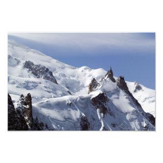 Cumbre de Mont Blanc y de L'Aiguille Du Midi Fotografía