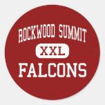 Cumbre de Rockwood - Falcons - alta - Fenton Etiquetas Redondas