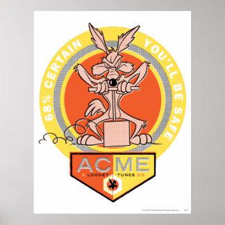 Cumbre del coyote del Wile E - el 68% seguro usted Póster