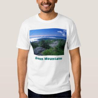 Cumbre del hambre del soporte, montañas verdes remeras