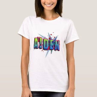 Cumbre nombre Aiden with! as i Playera