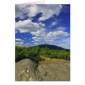 Cumbre y soporte Monadnock de la montaña de Gap Tarjeta De Felicitación