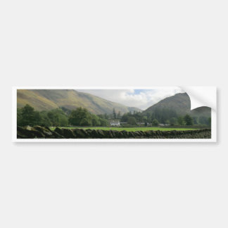 Cumbrian Dry Stone Wall at Howtown Car Bumper Sticker