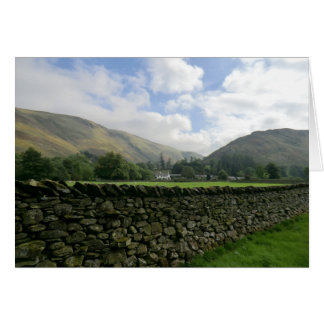 Cumbrian Dry Stone Wall at Howtown Greeting Card