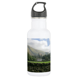 Cumbrian Dry Stone Wall at Howtown 18oz Water Bottle