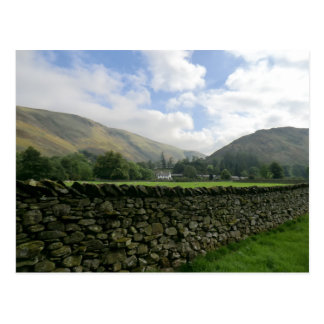 Cumbrian Dry Stone Wall at Howtown Postcard