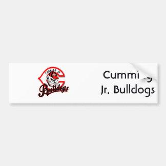 Cumming Jr. Bulldogs Car Bumper Sticker