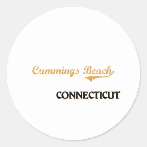 Cummings Beach Connecticut Classic Round Sticker