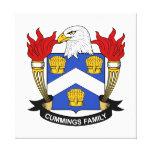 Cummings Family Crest Canvas Print