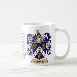 Cummins, the Origin, the Meaning and the Crest Coffee Mug