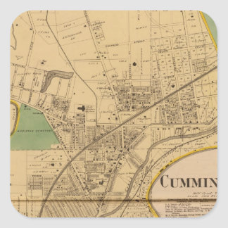 Cumminsville, Ohio Pegatina Cuadrada