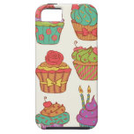 Cumpcakes deliciosos fijados iPhone 5 Case-Mate cárcasa