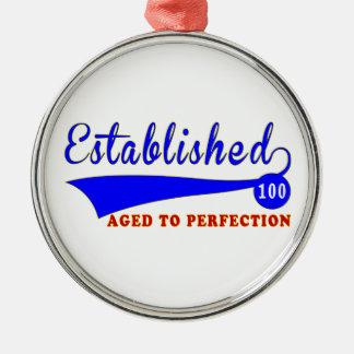 Cumpleaños 100 envejecido a la perfección adorno