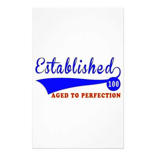 Cumpleaños 100 envejecido a la perfección  papeleria de diseño