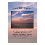 Cumpleaños, 100o, salida del sol en la playa, reli tarjetón