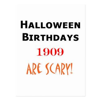 cumpleaños 1909 de Halloween Tarjetas Postales