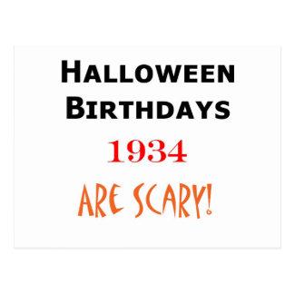 cumpleaños 1934 de Halloween Postales