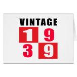 Cumpleaños 1939 del vintage tarjeta