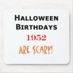 cumpleaños 1952 de Halloween Alfombrillas De Ratones