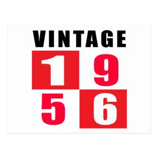 Cumpleaños 1956 del vintage postales