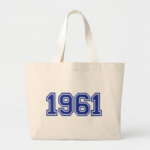 Cumpleaños 1961 bolsa tela grande