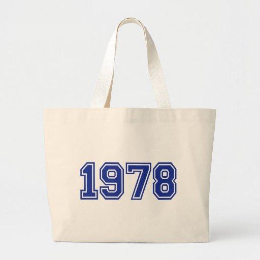 Cumpleaños 1978 bolsa tela grande