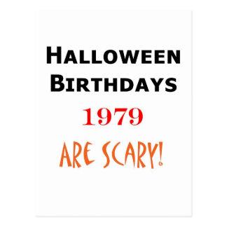 cumpleaños 1979 de Halloween Postal