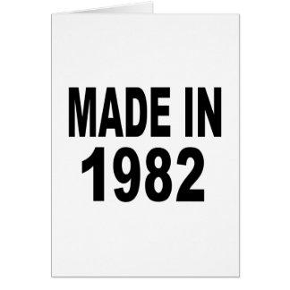 Cumpleaños 1982 tarjeta