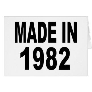 Cumpleaños 1982 tarjetón