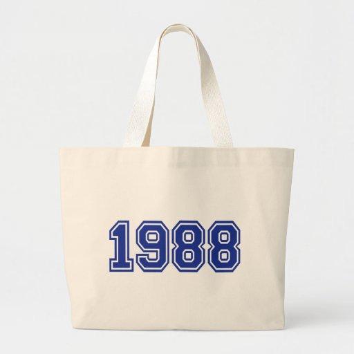 Cumpleaños 1988 bolsa lienzo
