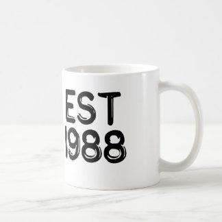 cumpleaños 1988 del año del nacimiento taza clásica