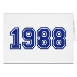 Cumpleaños 1988 tarjetón
