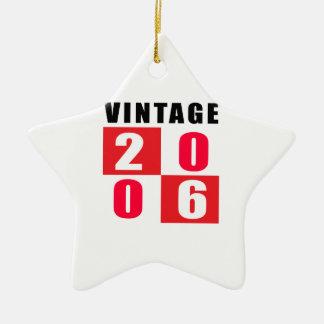 Cumpleaños 2006 del vintage adorno de cerámica en forma de estrella