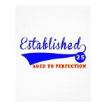 Cumpleaños 25 envejecido a la perfección membrete a diseño