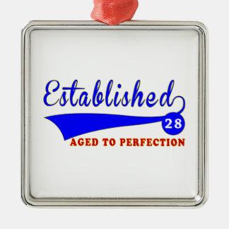Cumpleaños 28 envejecido a la perfección adornos