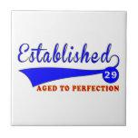 Cumpleaños 29 envejecido a la perfección azulejos ceramicos