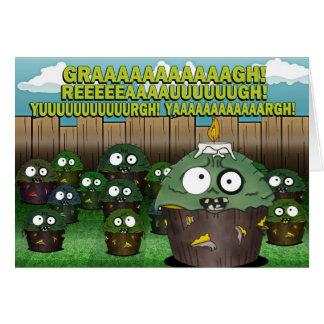 Cumpleaños #2 de la magdalena del zombi tarjeta de felicitación