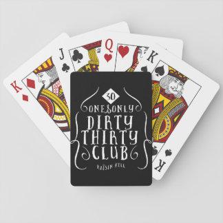 Cumpleaños 30 30 años 30 sucios cartas de póquer