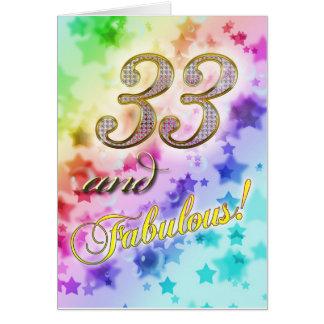 cumpleaños 33rdt para alguien fabuloso tarjeta de felicitación