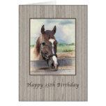 Cumpleaños, 35to, caballo de Brown con el freno Felicitaciones