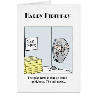 Cumpleaños 3 de la explotación minera tarjeta de felicitación