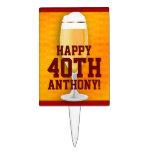 Cumpleaños 40.o de la cerveza personalizado decoraciones de tartas
