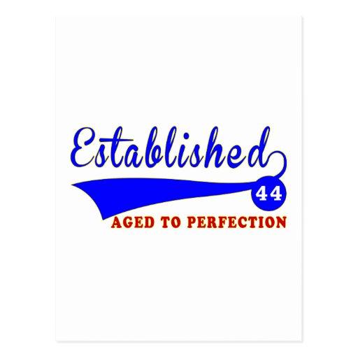 Cumpleaños 44 envejecido a la perfección postal