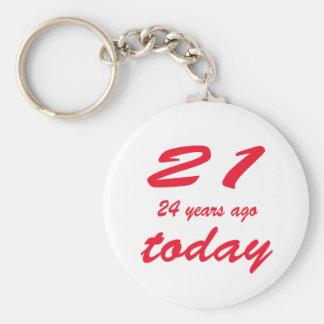 cumpleaños 45 llavero redondo tipo pin