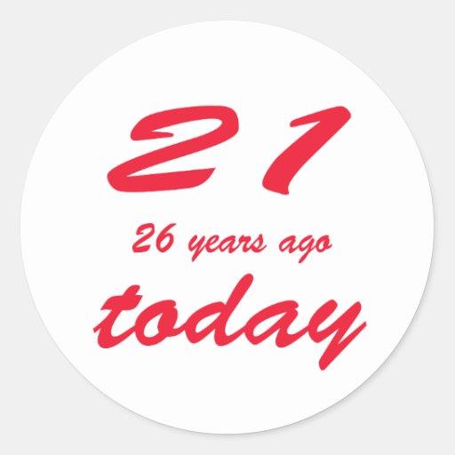 cumpleaños 47 etiqueta redonda
