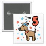Cumpleaños 5 del perro pins