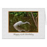 Cumpleaños, 65.o, gran pesca del Egret en el río Felicitacion