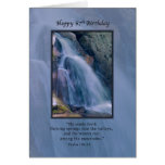 Cumpleaños, 67.o, religioso, cascada de la montaña tarjeta